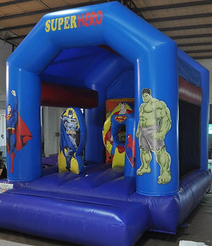 Superheroes mini combo bouncy castle hire Perth cheap bouncy castles Swan Valley Castle Hire Ellenbrook bouncy castles