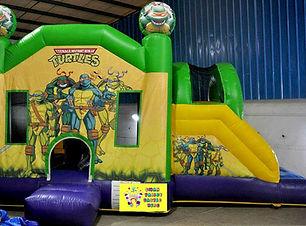 Turtles side slide bouncy castle hire Perth cheap bouncy castles Swan Valley Castle Hire Ellenbrook bouncy castles