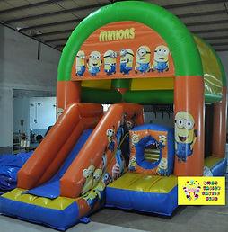 Minions mini slide combo bouncy castle hire perth cheap bouncy castles Swan Valley Castle Hire Ellenbrook bouncy castles