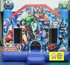 Justice League bouncy castle cheap bouncy castle hire perth Ellenbrook bouncy castles