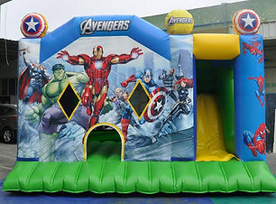 Avengers large combo bouncy castle hire perth cheap bouncy castles Swan Valley Castle Hire Ellenbrook bouncy castles