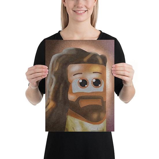Cube Jesus Poster