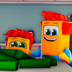 Dad and Kip Examine Cubecumbers