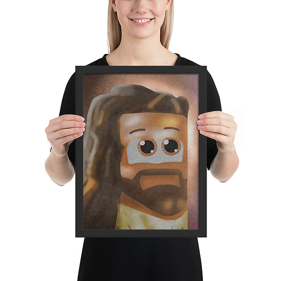 Cube Jesus Framed poster