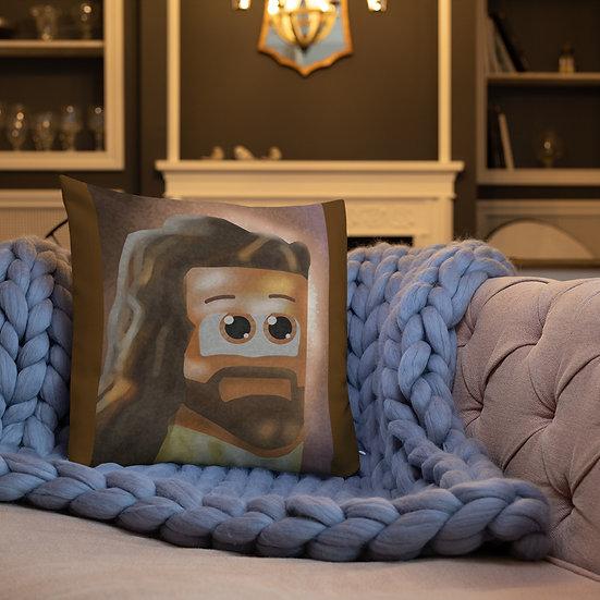 Cube Jesus Premium Pillow
