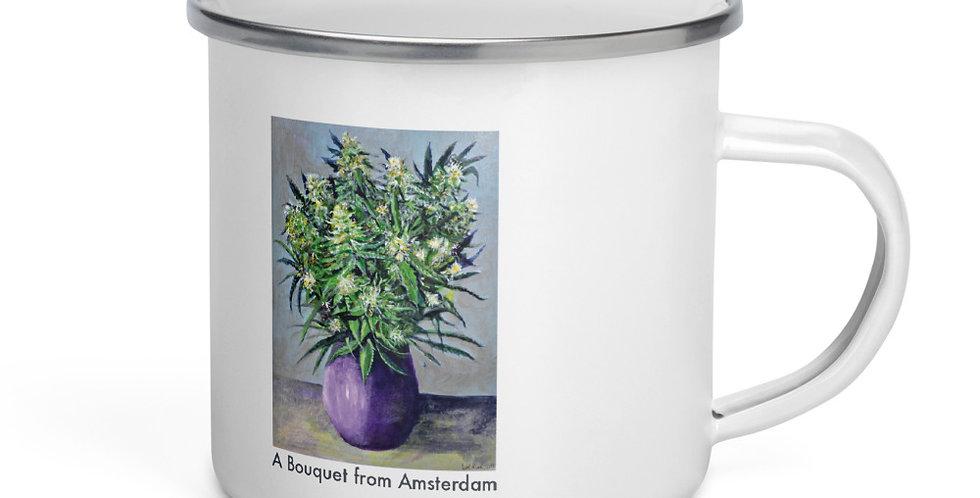Bouquet from Amsterdam Enamel Mug