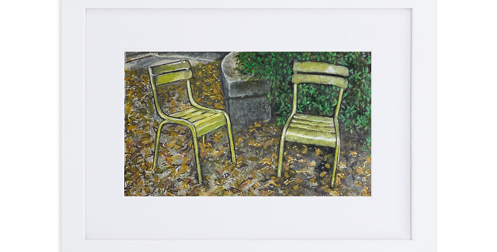 Autumn at the Luxembourg Gardens, open edition print