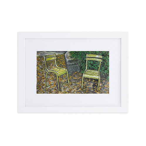 Autumn at the Luxembourg Gardens, open edition print by Debbie Lear