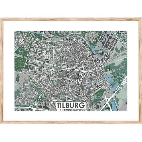Tilburg Stadskaart Poster MijnHONCK