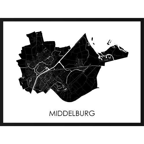 Middelburg stadskaart