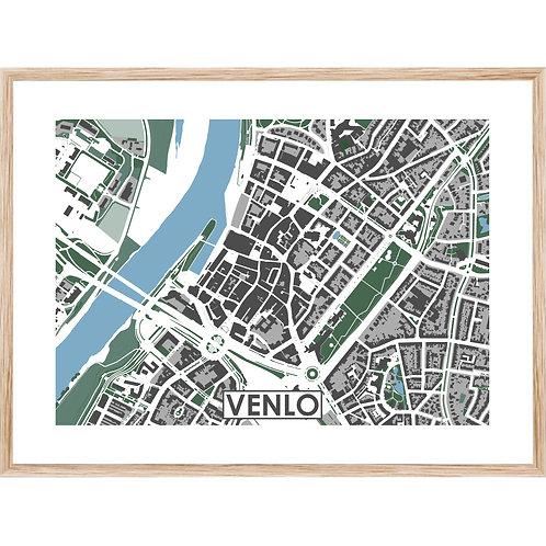 Venlo Centrum Stadskaart Poster MijnHONCK