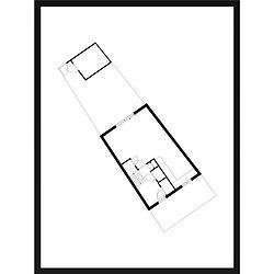 Gepersonaliseerd modern huisportret plattegrond van MijnHONCK