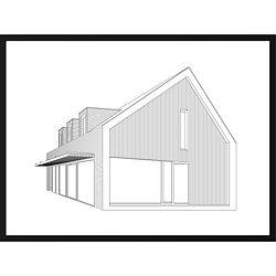 Gepersonaliseerd modern perspectief huisportret van MijnHONCK