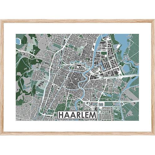 Haarlem Stadskaart Poster MijnHONCK