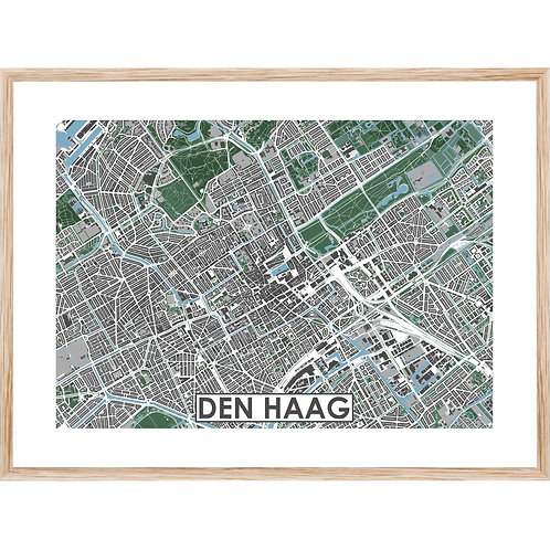 Den Haag Centrum Stadskaart Poster MijnHONCK