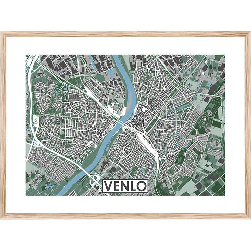 Venlo Stadskaart Poster MijnHONCK