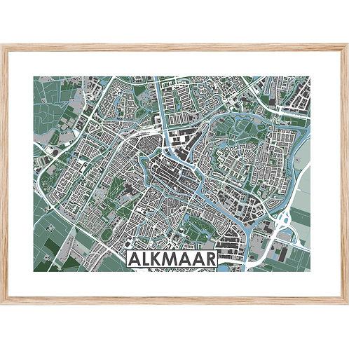 Alkmaar Stadskaart Poster MijnHONCK
