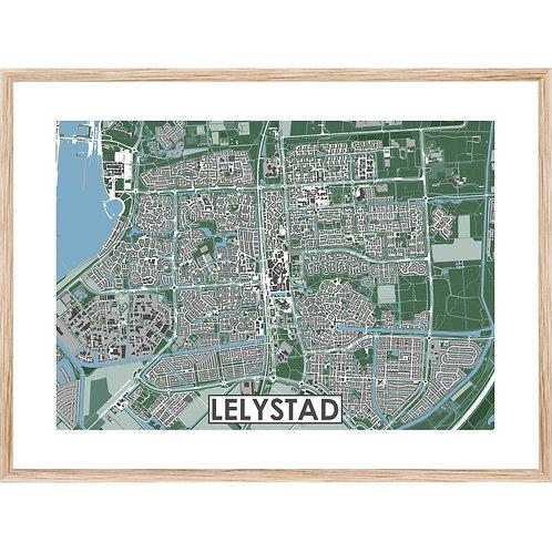 Lelystad Stadskaart Poster MijnHONCK