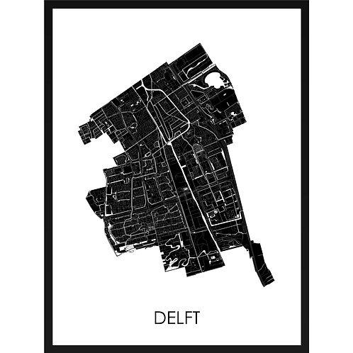 Delft stadskaart