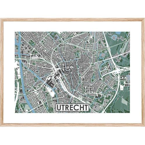 Utrecht  Stadskaart Poster MijnHONCK