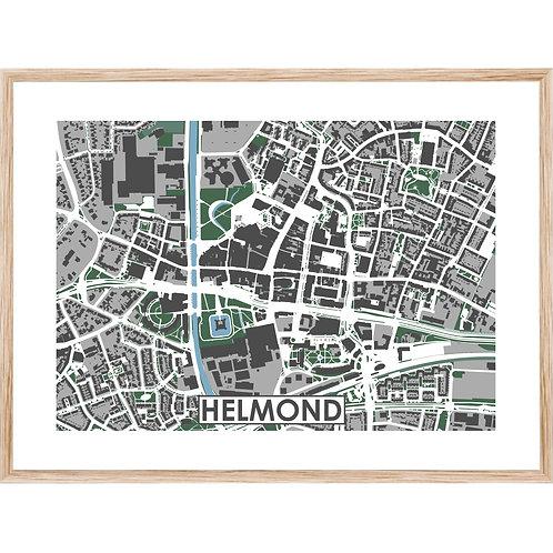 Helmond Centrum Stadskaart Poster MijnHONCK