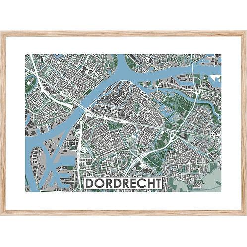 Dordrecht Stadskaart Poster MijnHONCK