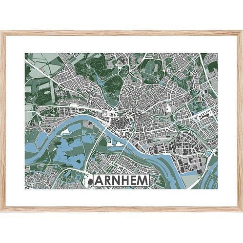 Arnhem Stadskaart Poster MijnHONCK