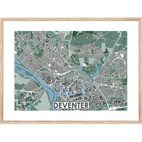 Deventer Stadskaart Poster MijnHONCK
