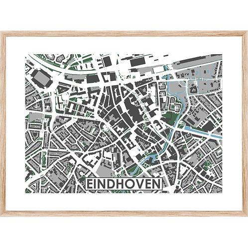 Eindhoven Centrum Stadskaart Poster MijnHONCK