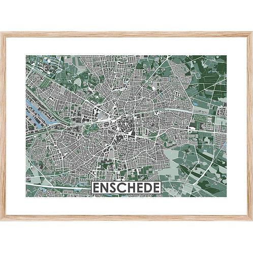 Enschede Stadskaart Poster MijnHONCK