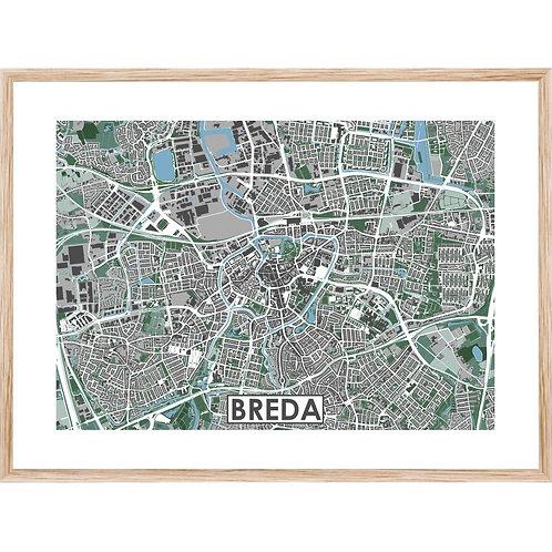 Breda Stadskaart Poster MijnHONCK