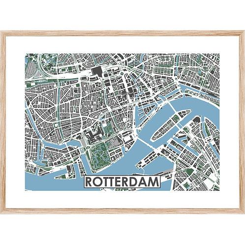 Rotterdam Centrum Stadskaart Poster MijnHONCK