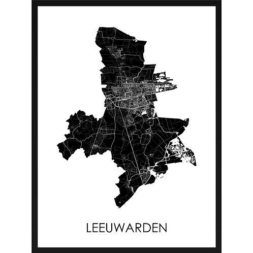Leeuwarden stadskaart