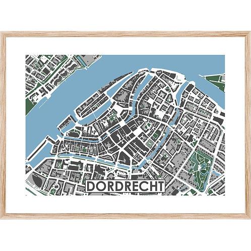 Dordrecht Centrum Stadskaart Poster MijnHONCK