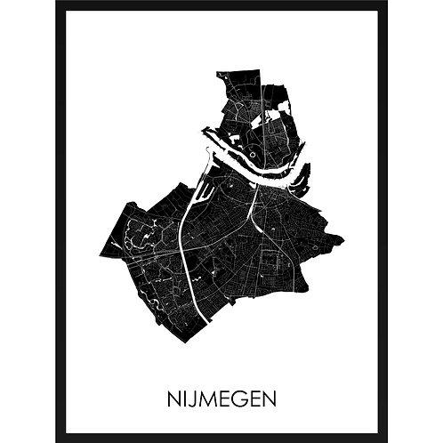Nijmegen stadskaart