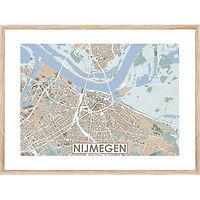 Gepersonaliseerde gedetailleerde kleurrijke stadskaart van MijnHONCK