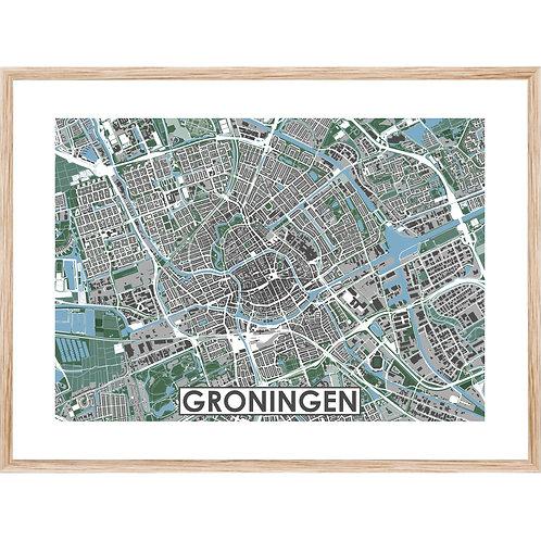 Groningen Stadskaart Poster MijnHONCK