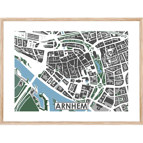 Arnhem Centrum Stadskaart Poster MijnHONCK
