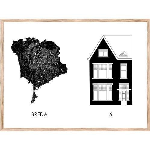 Huisportret + Stadskaart