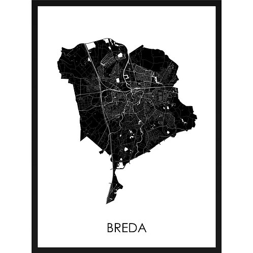 Breda stadskaart