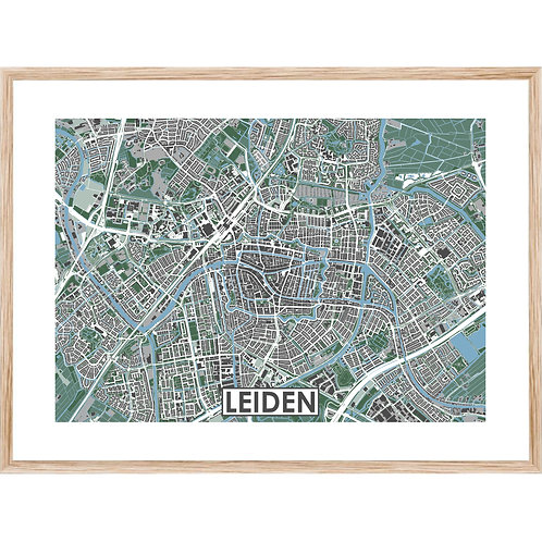 Leiden Stadskaart Poster MijnHONCK