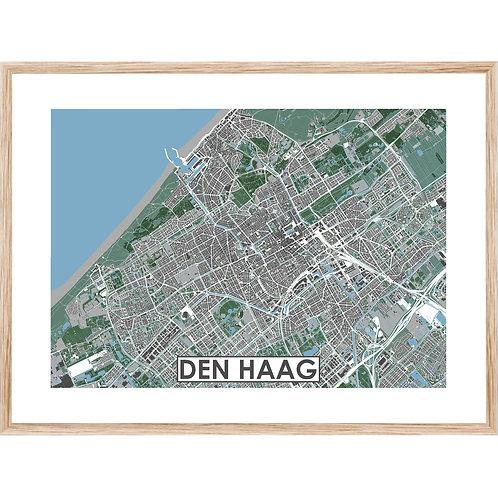 Den Haag Stadskaart Poster MijnHONCK