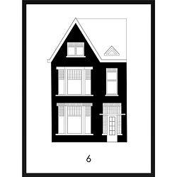 Gepersonaliseerd modern huisportret van MijnHONCK