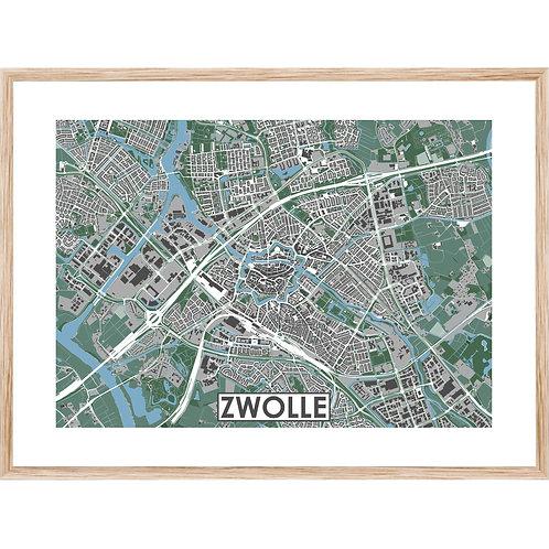 Zwolle Stadskaart Poster MijnHONCK