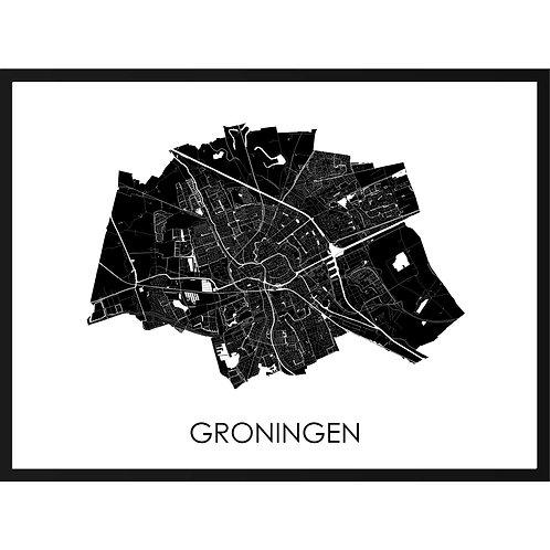 Groningen stadskaart