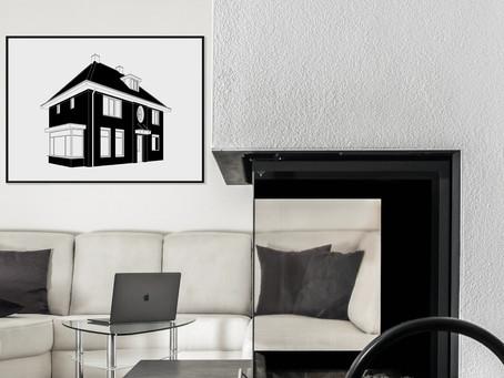 Moderne unieke huisportretten laat je ontwerpen door MijnHONCK