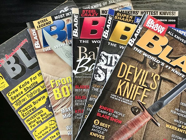 Blade Magazine back issues.
