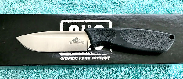 Ontario Knife Company Hunt plus Drop point fixed blade knife.