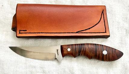 Sharman Koa wood fixed blade edc.