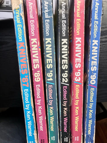Knives annuals edited by Ken Warner